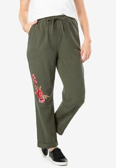 Flower Patch Drawstring Pant by Chelsea Studio®,