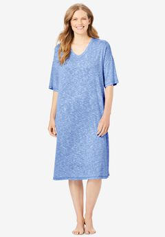 Short Marled Sleepshirt by Dreams & Co.®, FRENCH BLUE