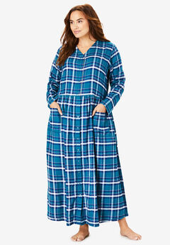 Flannel Plaid Lounger by Only Necessities®, EVENING BLUE MULTI PLAID