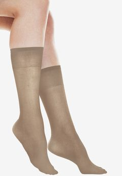 6-Pack Extended Size Sheer Knee-High by Comfort Choice®,