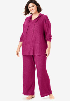 Dreams & Co.® Supersoft Oversized Lounge Sweater, POMEGRANATE