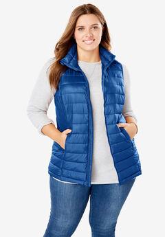 Packable Puffer Vest, DARK SAPPHIRE