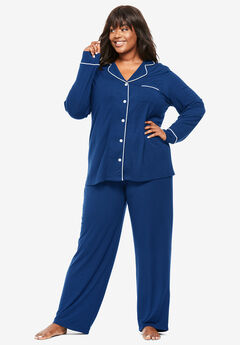 2-Piece Classic Pajama Set By Dreams & Co.®, EVENING BLUE