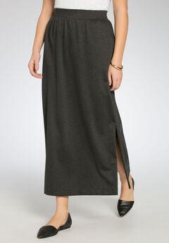 Stretch Ponte Maxi Skirt,