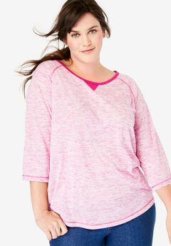 c5d14234623283 Plus Size 3/4 Sleeve Tops & T-Shirts for Women   Full Beauty