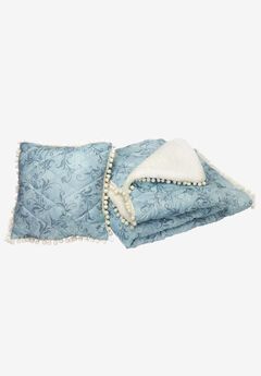 Pom-Pom Throw & Pillow Set,