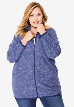 Zip-Front Microfleece Jacket,