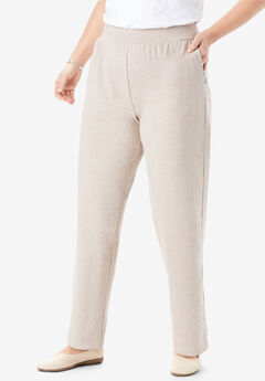 EveryWear Essential Straight Leg Pant, HEATHER SAND