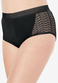 Microfiber Lace Sides Hipster Panty by Comfort Choice®,