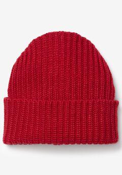 Foldover Rib Knit Beanie,