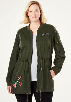 Long Bomber Jacket by Chelsea Studio®,