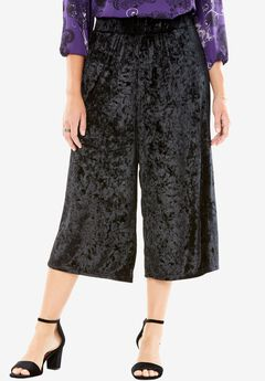Crushed Velour Culottes by Chelsea Studio® ,