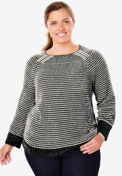 Pullover Chenille Shaker Sweater,