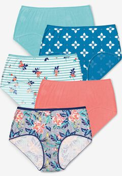 5-Pack Pure Cotton Full-Cut Brief by Comfort Choice®, TROPIC PACK