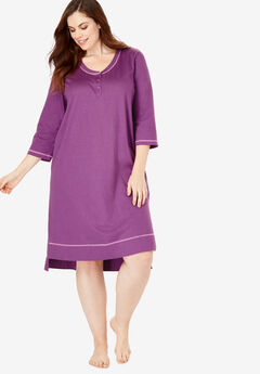 Scoopneck Sleepshirt by Dreams & Co.®, RADIANT ORCHID LIGHT ORCHID