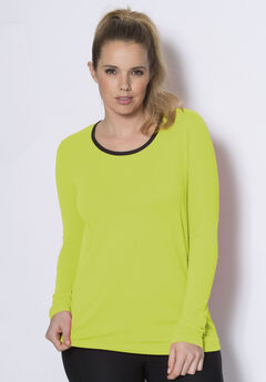 Peached active scoop neck tee by FullBeauty SPORT®,