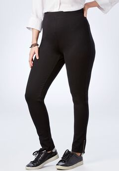 Zip-Hem Ponte Legging,