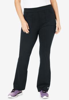 FullBeauty SPORT® Bootcut Knit Pant, BLACK