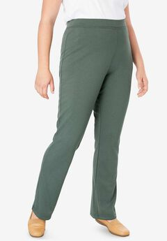 Bootcut Ponte Stretch Knit Pant,