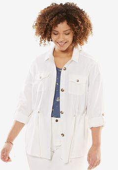 Linen Utility Jacket,