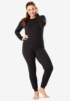 Thermal Long Sleeve Tee by Comfort Choice®, BLACK