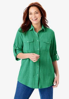 Cotton Gauze Bigshirt,