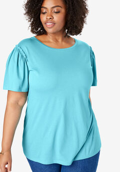 e7d0c350239 Flutter Sleeve Tee. Woman Within