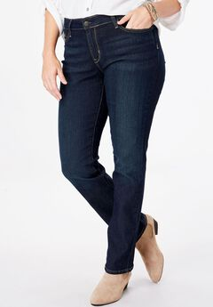 Signature by Levi Strauss & Co.™ Gold Label Womens Plus Mid-Rise Straight Jeans,