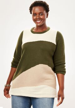 Color Block Sweater,