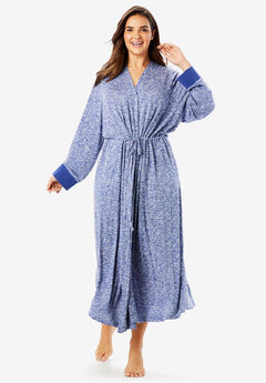 Marled Long Duster Robe by Dreams & Co.®, BLUE SAPPHIRE MARLED