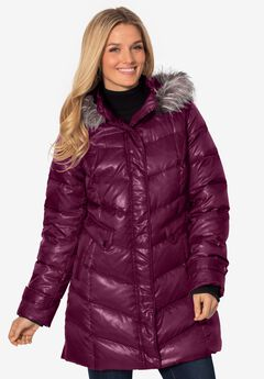 Hooded down puffer jacket,