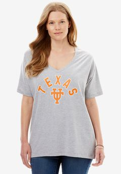 NCAA Front Graphic V-neck Tee,