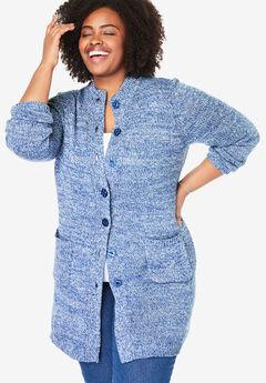 Marled Sweater Jacket,