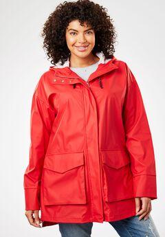 High-Low Slicker Raincoat,
