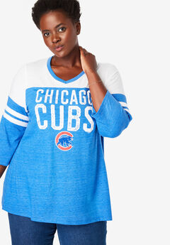 MLB Team Striped Raglan Tee, CUBS