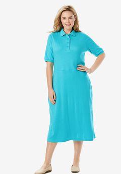 A-Line Polo Tee Dress,