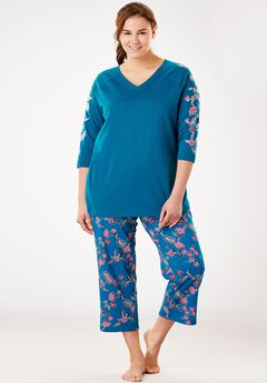 Print Capri PJ Set by Dreams & Co.®,