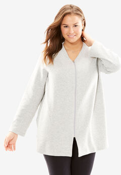 Quilted Fleece Short Bed Jacket by Only Necessities®,