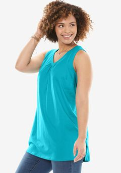 V-Neck Sleeveless Perfect Tunic,