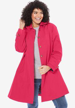 Classic raincoat with detachable hood,