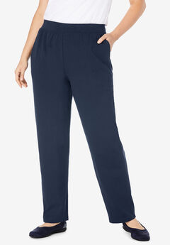 EveryWear Essential Straight Leg Pant, NAVY