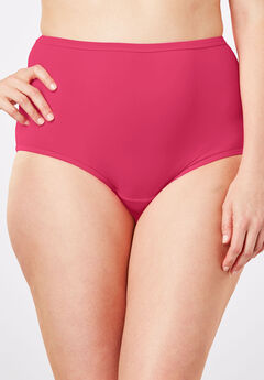 Stretch Microfiber Full-Cut Brief by Comfort Choice®, RASPBERRY PINK
