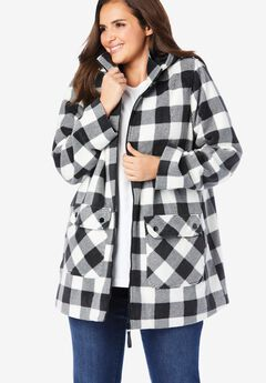 Hooded Fleece Coat,
