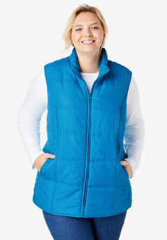 Quilted Vest, VIBRANT BLUE