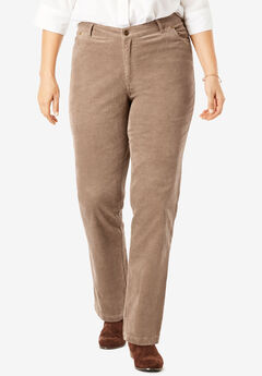 Corduroy Straight Leg Stretch Pant, BROWN SUGAR