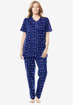 Floral Henley PJ Set by Dreams & Co.®,