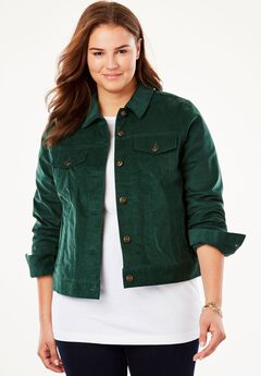 Cropped Corded Jacket,