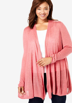 Lightweight Open Front Cardigan,