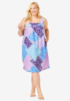 Print Sleeveless Square Neck Lounger by Dreams & Co.®,