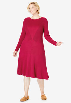 Rib Knit Sweater Dress,